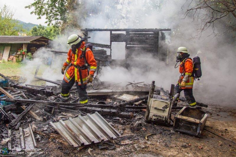 Brandeinsatz vom 01.06.2015  |  Feuerwehr Dossenheim (2015)