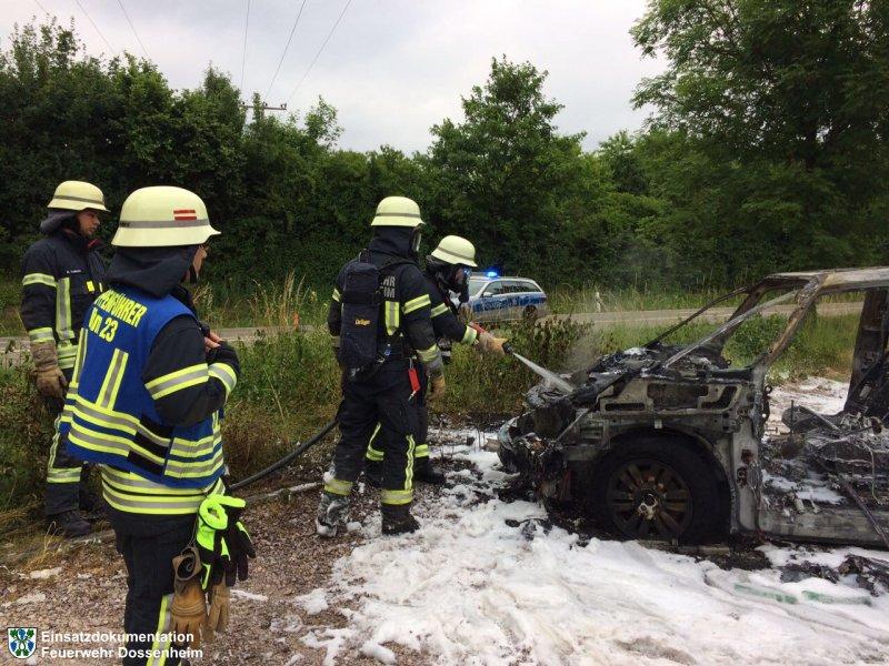 Brandeinsatz vom 17.06.2017  |  Feuerwehr Dossenheim (2017)